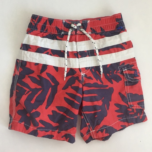 5e28ba87d0 GAP Swim | Boys Trunks Size 3t Red Hawaiian Floral | Poshmark